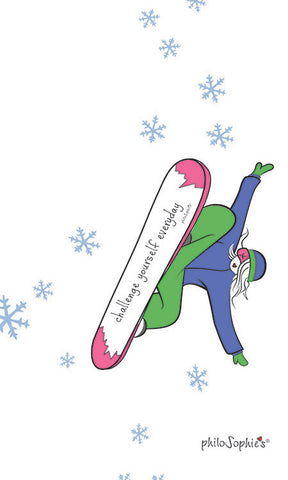 Challenger Yourself Everyday Snowboard Wall Art - Winter Collection