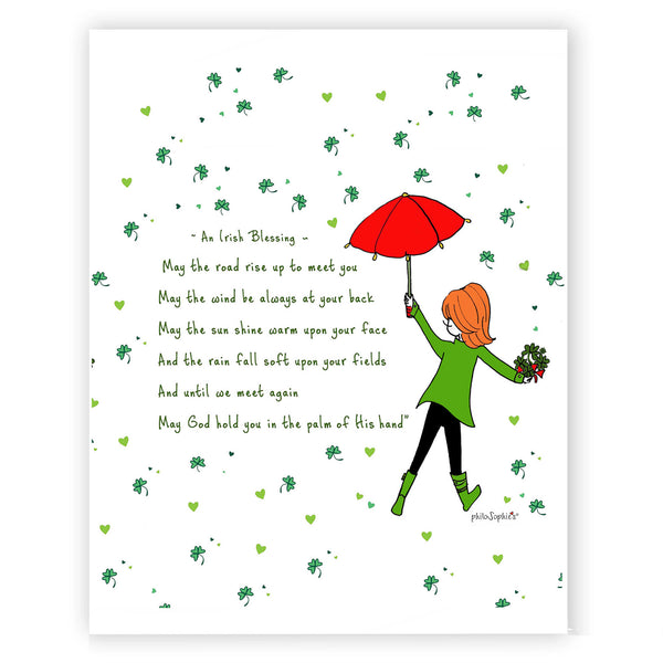 Irish Blessing Illustrated Art Print