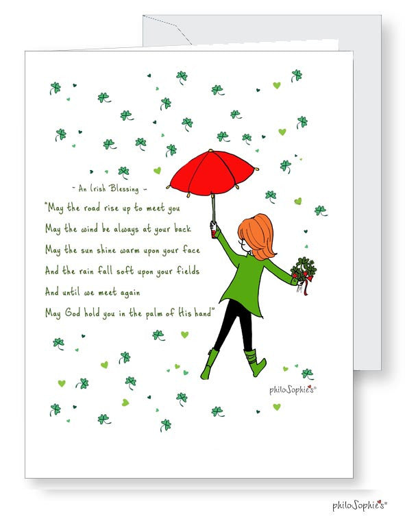 Irish Blessing St. Patrick's Day Greetings - philoSophie's®