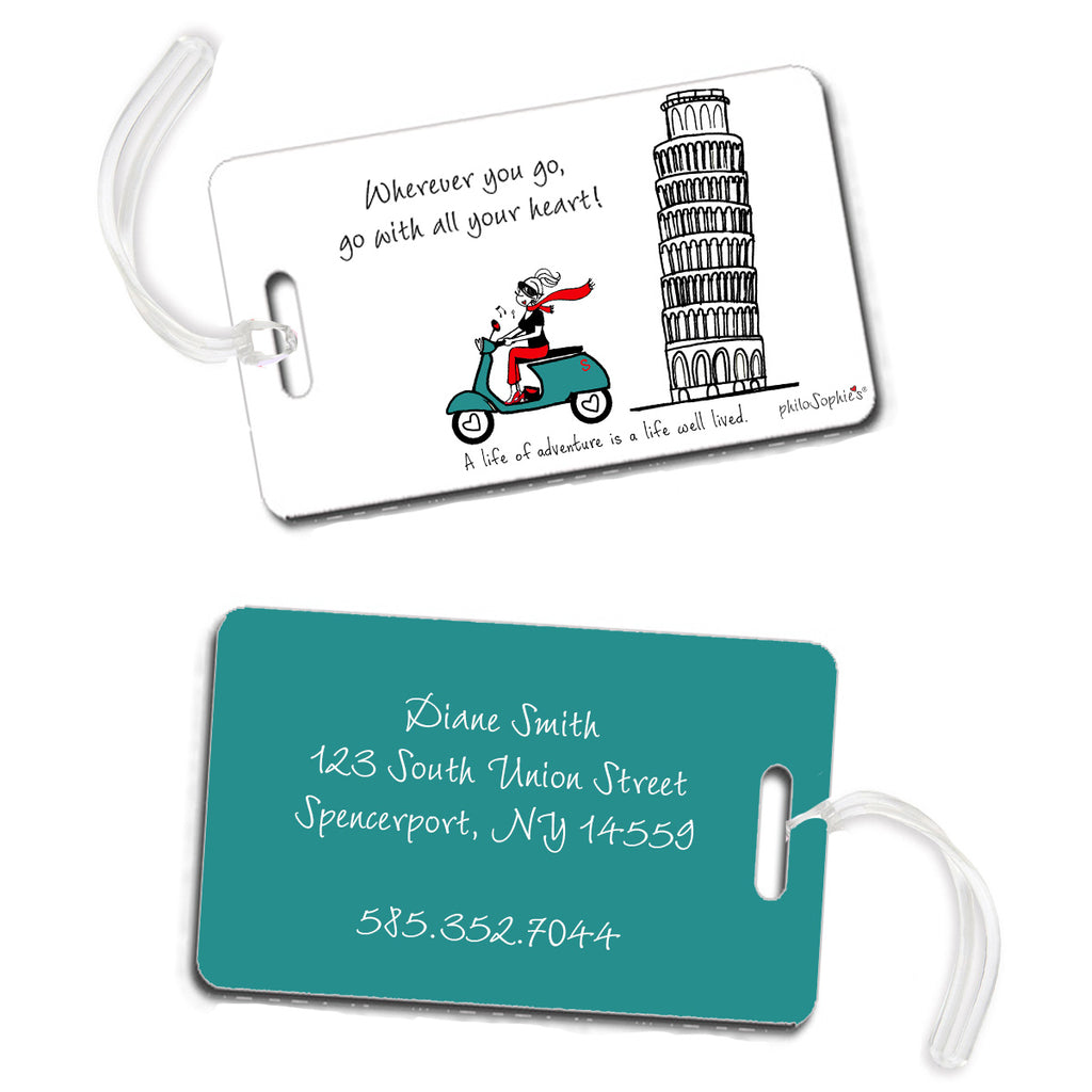 A life of adventure - Italy Luggage Tags - philoSophie's®