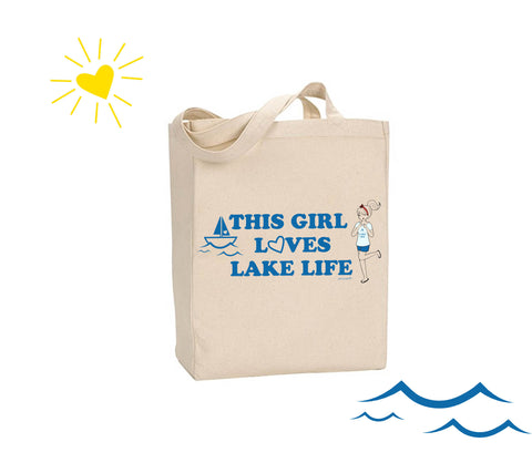 This Girl Loves Lake Life - philoSophie's Canvas Tote Bag - philoSophie's®