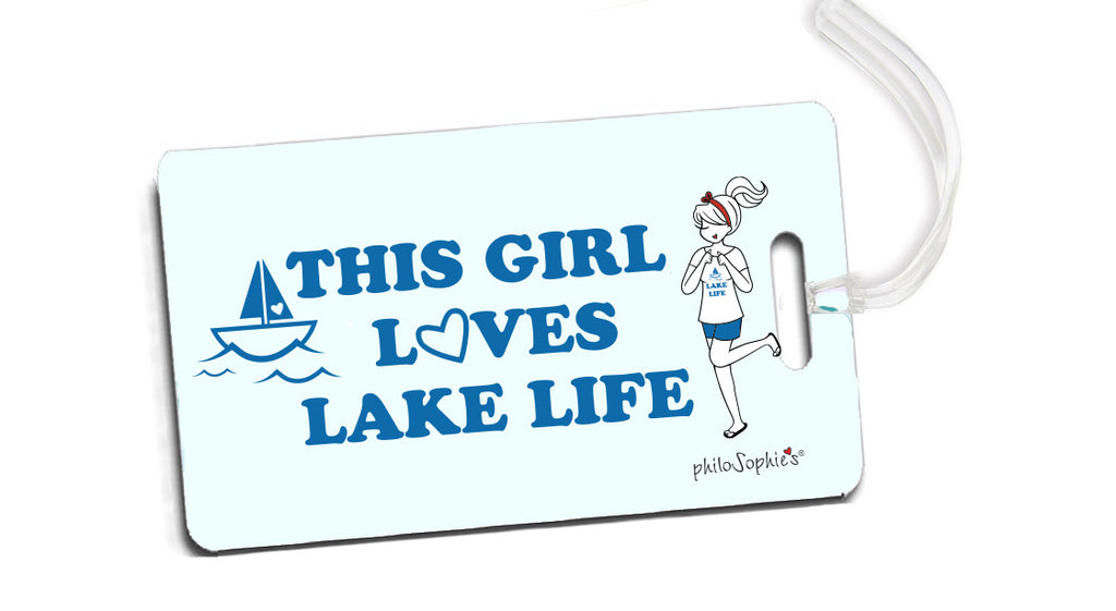 This Girl Loves Lake Life - philoSophie's Lake Life Luggage Tags - philoSophie's®