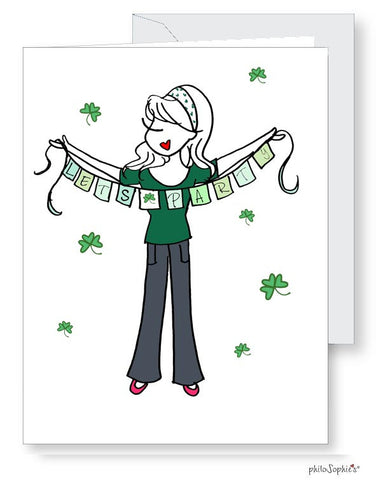 Let's Party! St. Patrick's Day Greetings - philoSophie's®