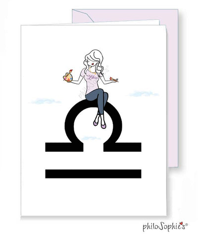 Zodiac: Libra Greeting Card