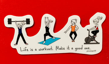 Life is a Workout Vinyl Sticker