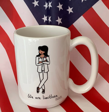 We are limitless - philoSophie's 15 Ounce Ceramic Mug, Made in the USA