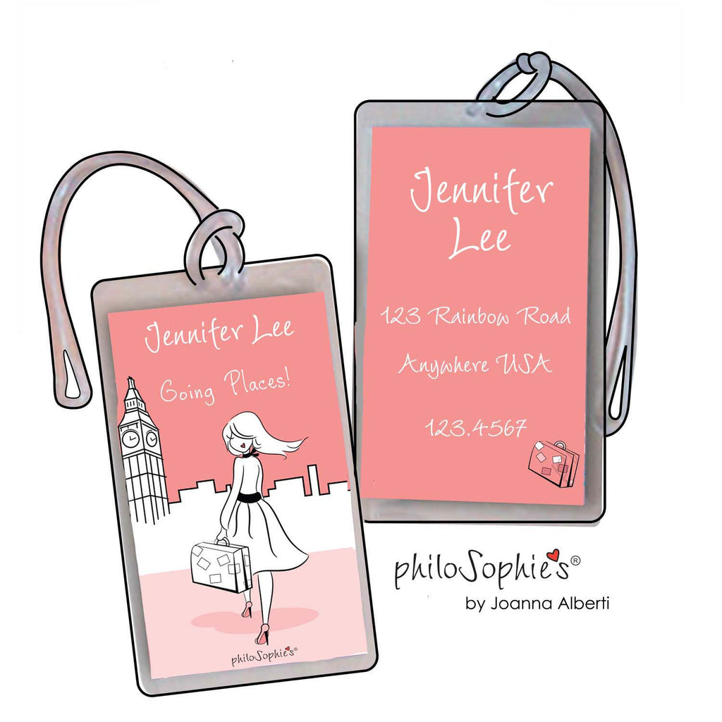 Going Places London Luggage Tags - philoSophie's®