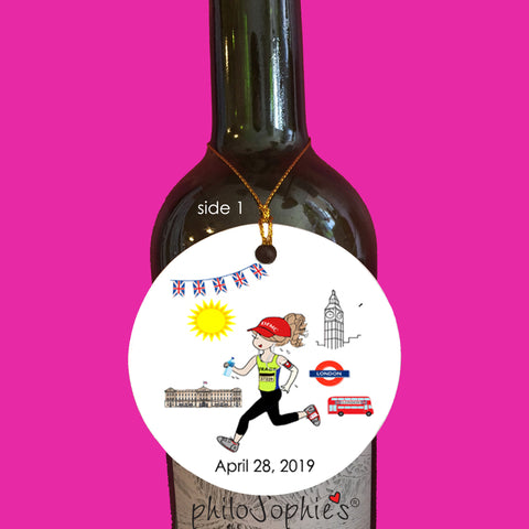 London 26.2  - Marathon Ornament  personalized Runner/Marathon