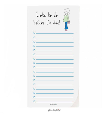 Expecting  philoSophie❤️s® Lots  To Do Notepad - philoSophie's®