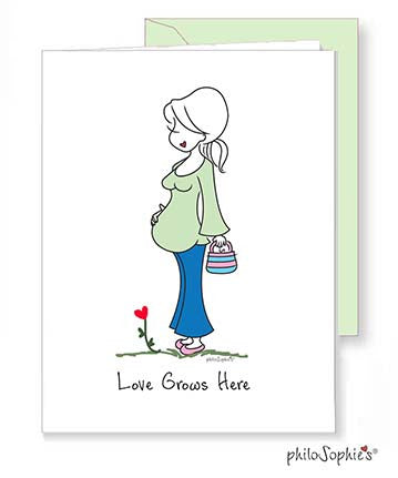 Love Grows Here - Expecting Baby Greeting Card