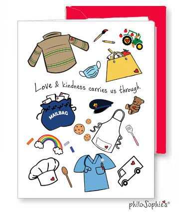 'Love & Kindness carries us through'  philoSophie's Greeting Card