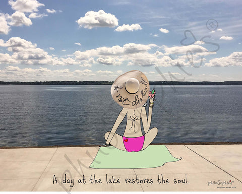 A day at the lake is good for the soul. - philoSophie's Wall Art