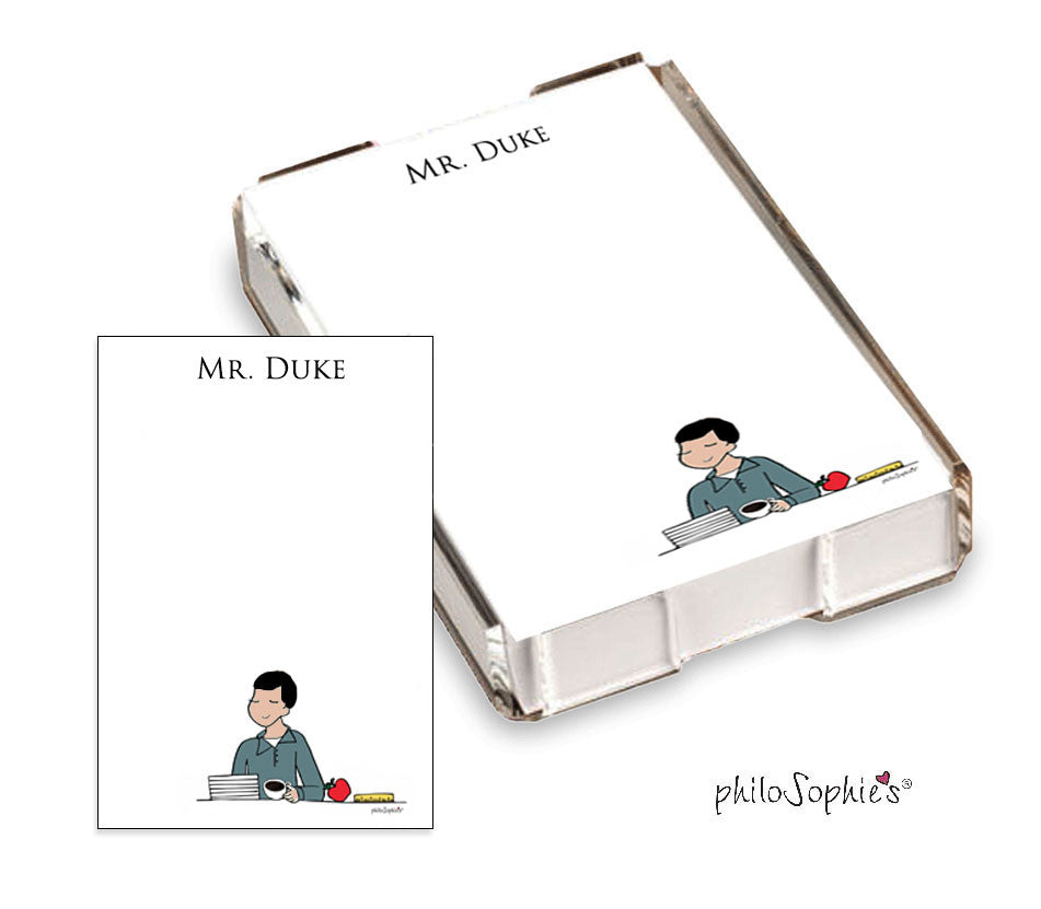 Teacher Personalized Notes - Mr. Quick Note - philoSophie's®