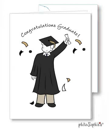 Congratulations Graduate Male Greeting Card