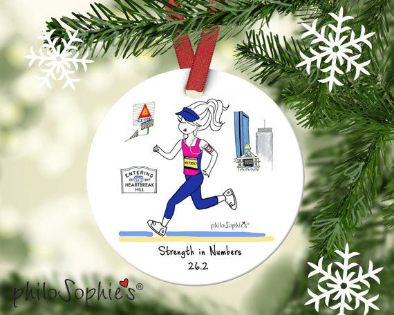 Personalized Boston Marathon Ornament - philoSophie's®