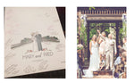 Wedding Guest Book Alternative with Couple Illustration & Venue