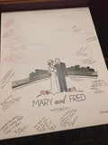 Wedding Guest Book Alternative with Couple Illustration & Venue - philoSophie's®