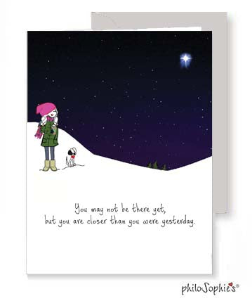 Getting There  - Winter Inspirational Greeting Card