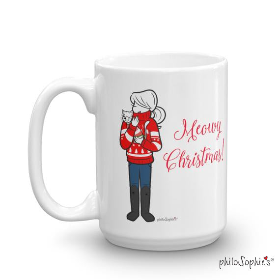 Meowy Christmas Holiday Mug