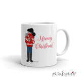 Personalized Meowy Christmas Holiday Mug - philoSophie's®