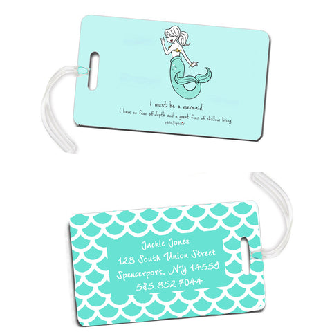 I must be a mermaid - Luggage Tags - philoSophie's®