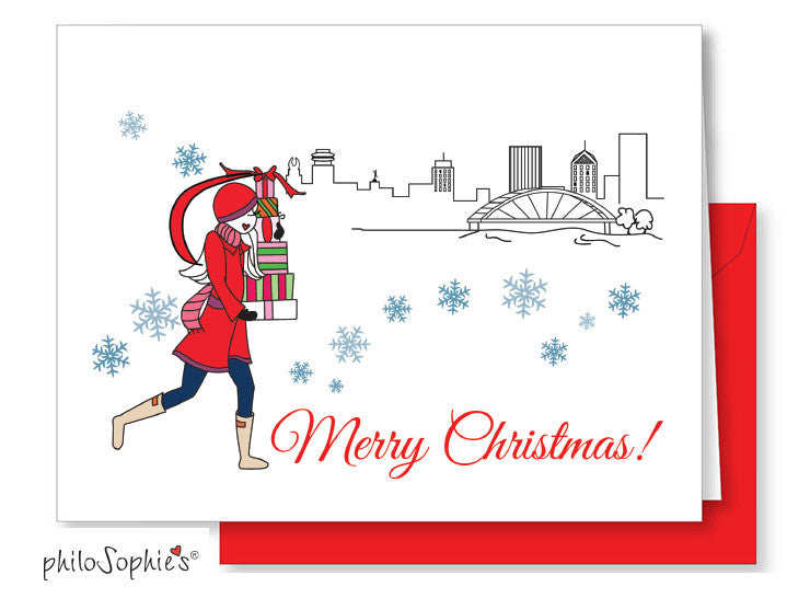 Merry Christmas Rochester Greeting Card - philoSophie's®