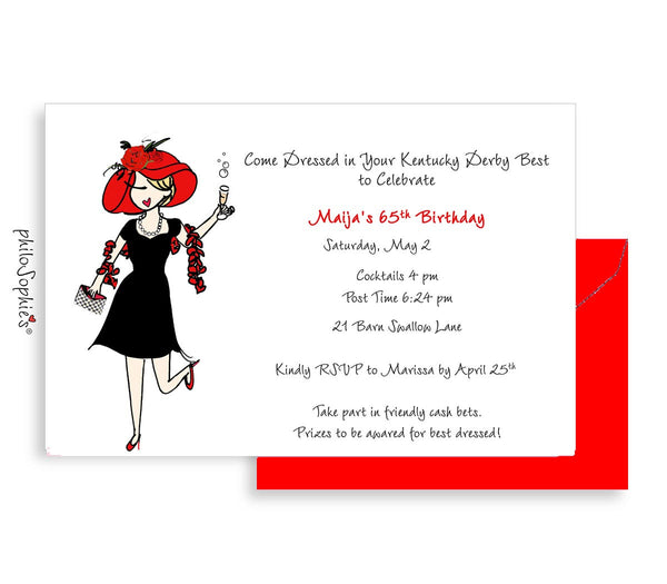 Birthday Invitation - Milestone Birthday Theme Party - philoSophie's®