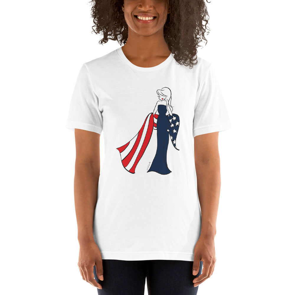 American Flag philoSophie's Short-Sleeve T-Shirt