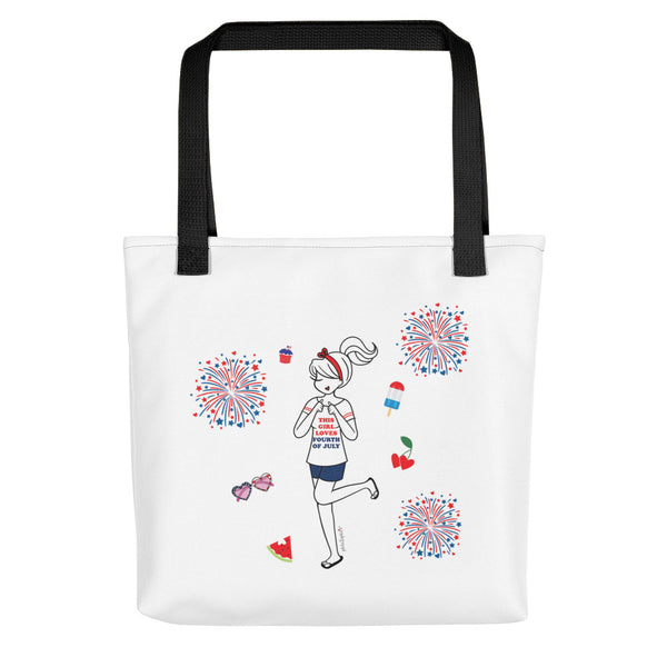 This Girl Loves 4th of July philoSophie's Tote bag