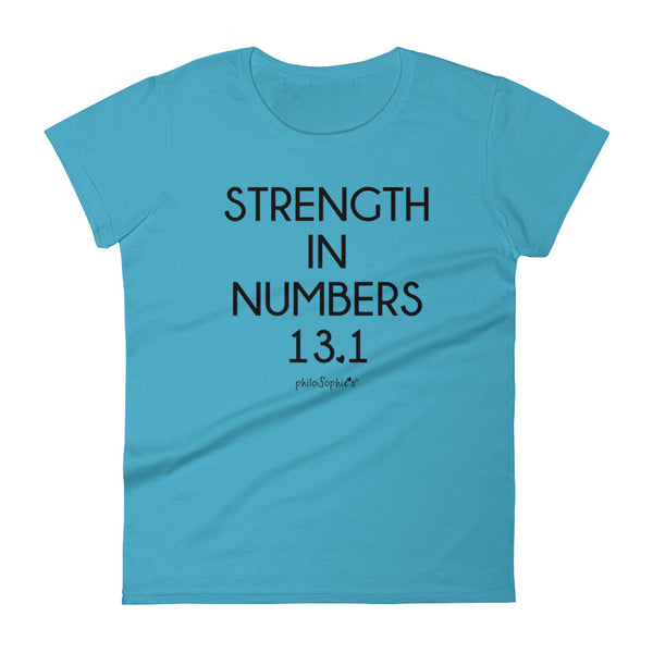 Half Marathon Strength in Numbers philoSophie's Women's short sleeve t-shirt - philoSophie's®