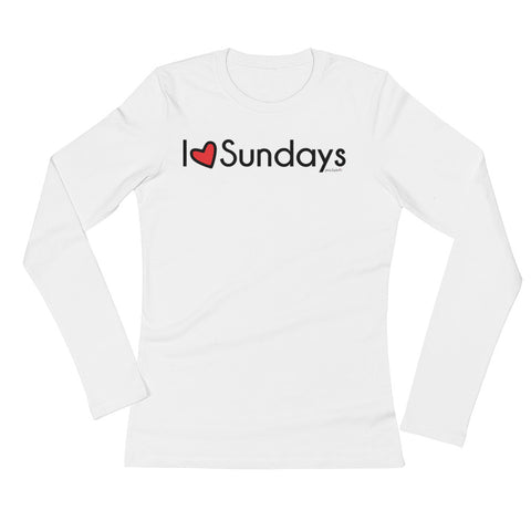 I heart Sundays philoSophie's Ladies' Long Sleeve T-Shirt