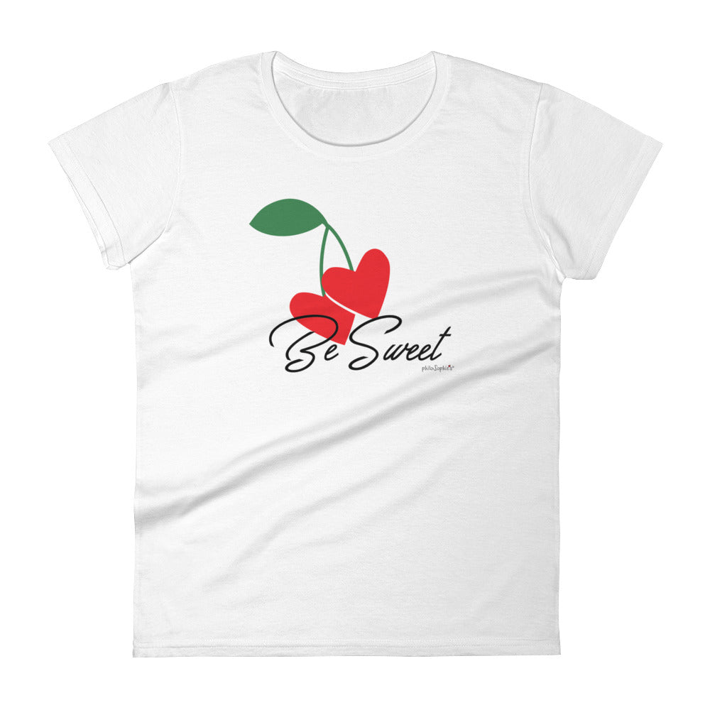 Be Sweet philoSophie's Heart Cherries Women's short sleeve t-shirt - philoSophie's®
