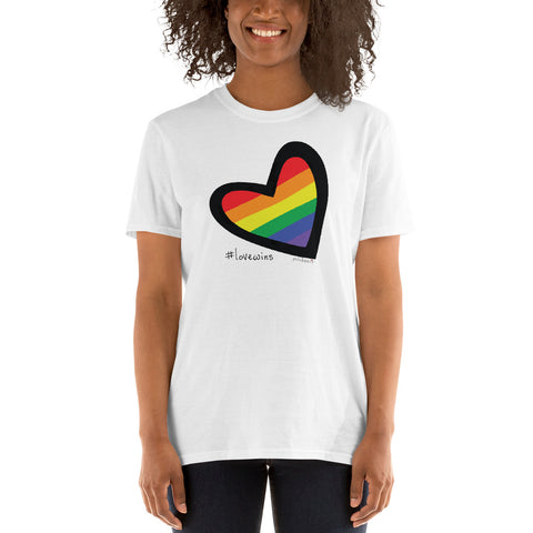 #Love Wins Short-Sleeve Unisex T-Shirt