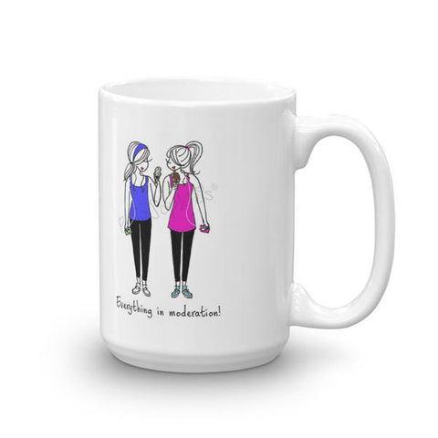 'Everything in Moderation' Friendship Mug 15 ounce Ceramic Mug - philoSophie's®