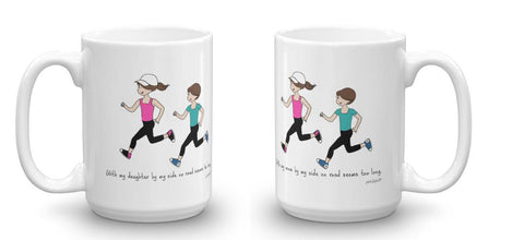 Mother & Daughter Runner Pair Personalized Mugs