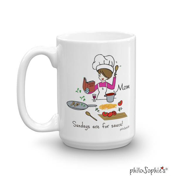 Sunday is for sauce! - personalized mug