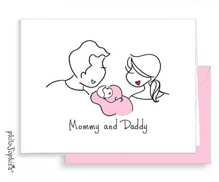 Mommy and Daddy - Baby Greeting Card
