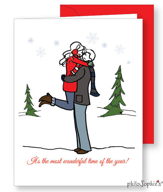 Most wonderful time of the year Engagement Greeting Card - philoSophie's®