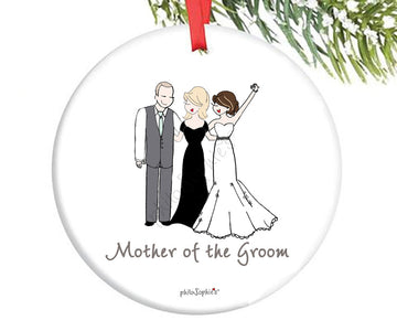 Personalized Mother of the Groom Ornament
