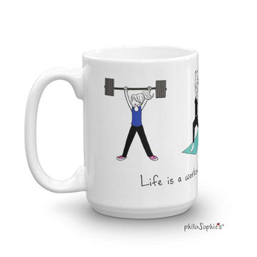 Life's a Workout Fitness Mug