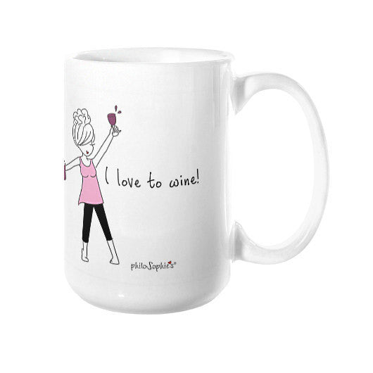 I love to wine! Mug - philoSophie's®