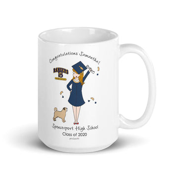 Class of 2020 Personalized Grad Mug with Pet