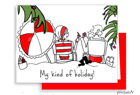 My Kind of Holiday Greeting Card - philoSophie's®