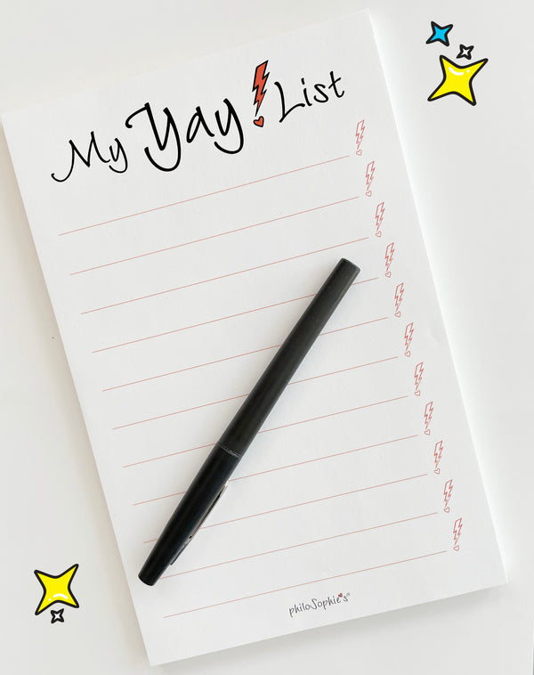 My Yay List! - Notepad with Thank You Teacher Greeting Card