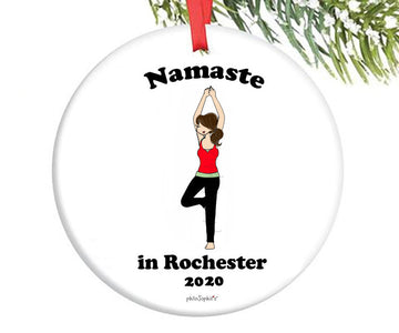 Namaste in 'Hometown' Ornament