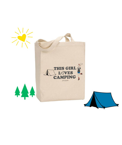 This Girl Loves Camping - philoSophie's Canvas Tote Bag - philoSophie's®