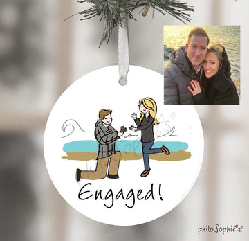 Newport, RI Engagement Wine Tag/Ornament