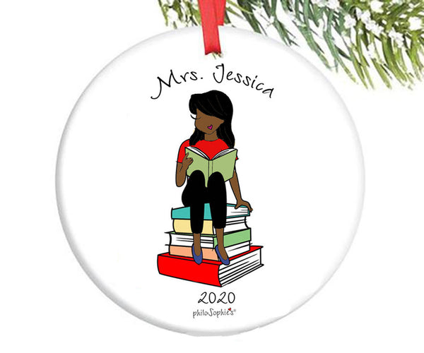 Reading Teacher Custom Ornament
