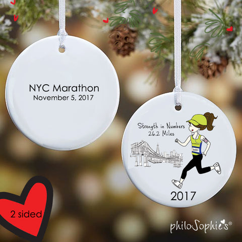 NYC personalized Runner/Marathon Ornament