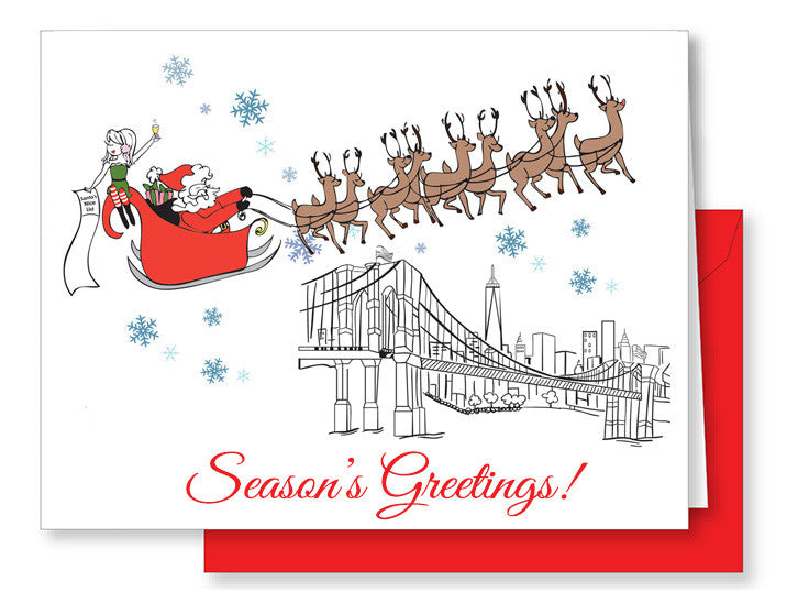 Season's Greetings NYC Greeting Card - philoSophie's®